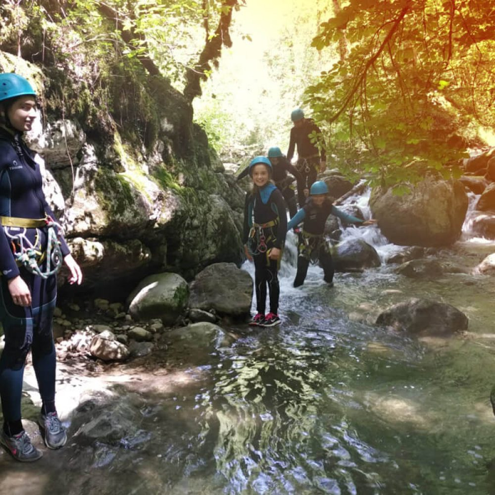 Canyoning for child Annecy