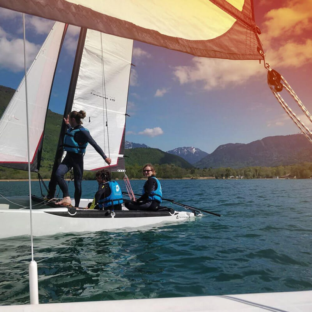 Catamaran Annecy lake